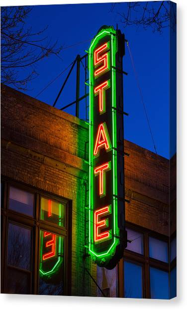 Cornell University Canvas Print - State Theatre - Ithaca by Stephen Stookey