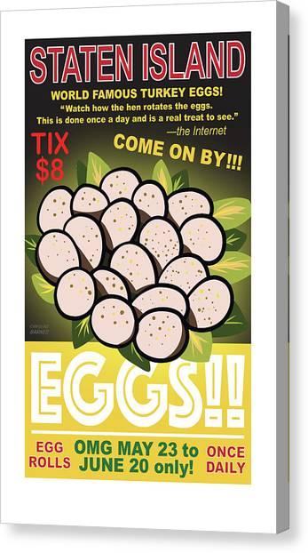 Staten Islands Eggs Canvas Print
