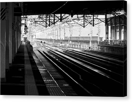 Bullet Trains Canvas Print - Station by Aaris K