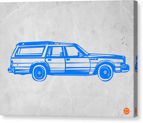 Car Canvas Print - Station Wagon by Naxart Studio