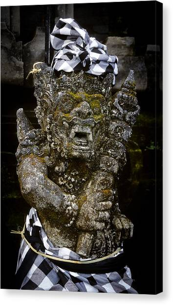 Canvas Print featuring the photograph Statue Formalwear by T Brian Jones