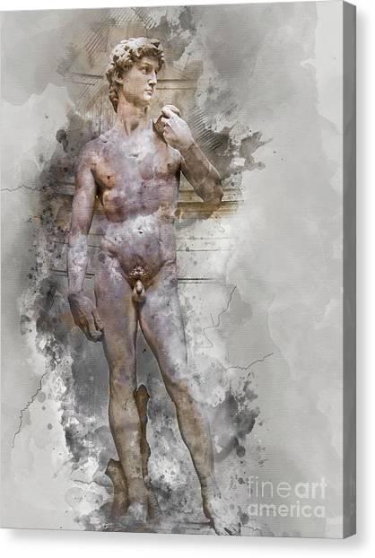 Statue Of David Canvas Print