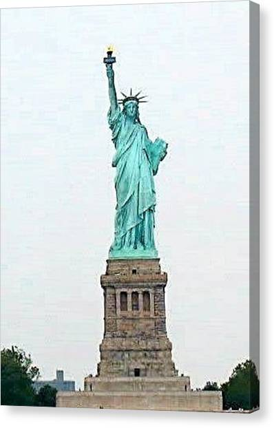 Statue Of Liberty Canvas Print - Statue Of Liberty by Donna Andrews
