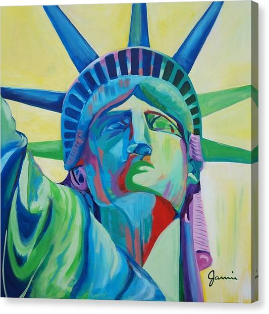 Statue Of Liberty Canvas Print - Statue Of Liberty by Jamie Bonfiglio