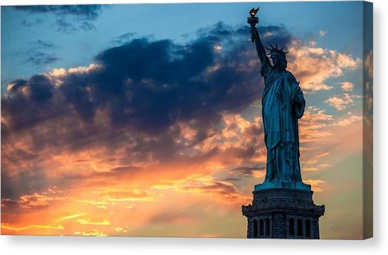 Statue Of Liberty Canvas Print - Statue Of Liberty by Mariel Mcmeeking