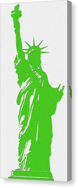 Statue Of Liberty No. 9-1 Canvas Print