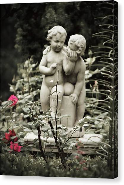 Statue Of Love Canvas Print