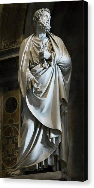 Statue Of Saint Peter Canvas Print by Vyacheslav Isaev