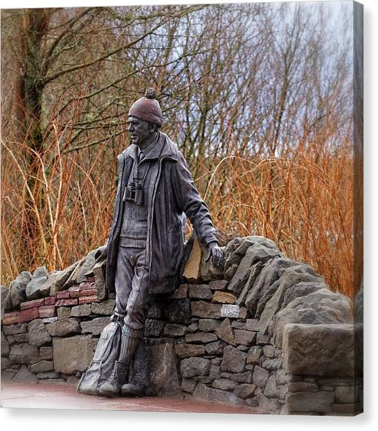 Statue Of Tom Weir Canvas Print