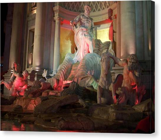 The Forum Canvas Print - Statues At Ceasars Palace by Anita Burgermeister