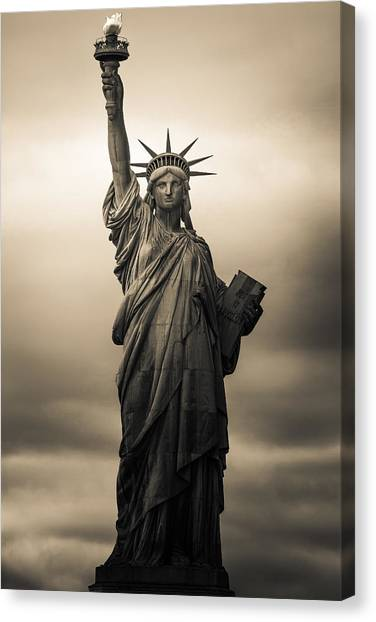 Statue Of Liberty Canvas Print - Statute Of Liberty by Tony Castillo