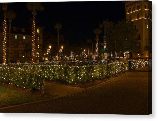 St.augustinelights1 Canvas Print