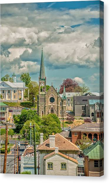 Staunton Cityscape Canvas Print