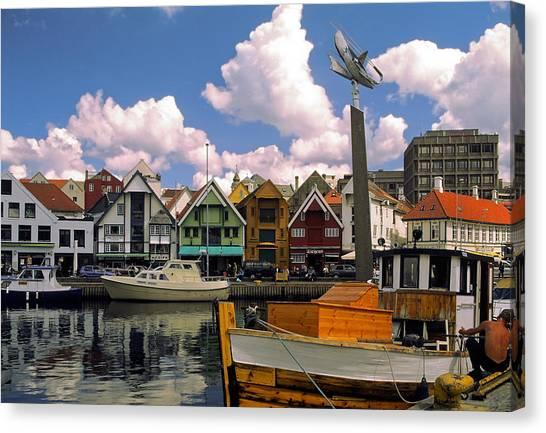 Stavanger Harbor Canvas Print
