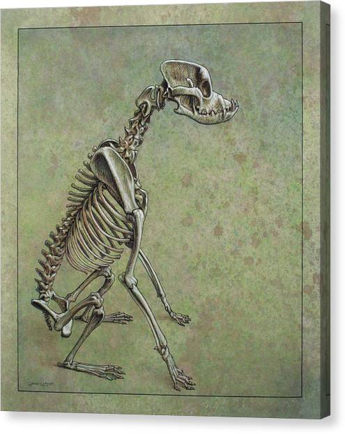 Skeleton Canvas Print - Stay... by James W Johnson
