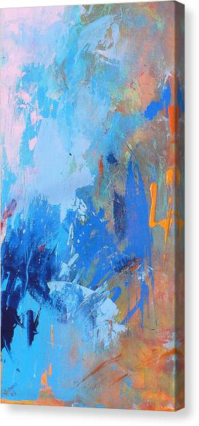 Abstract Expressionism Canvas Print - Stay The Night by Jacquie Gouveia