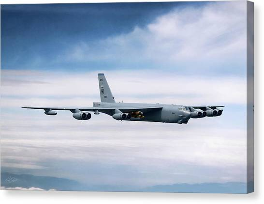 Cold War Canvas Print - Staying Power B-52h by Peter Chilelli