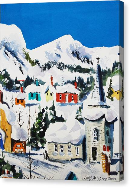 Ste. Saveur Quebec Canvas Print