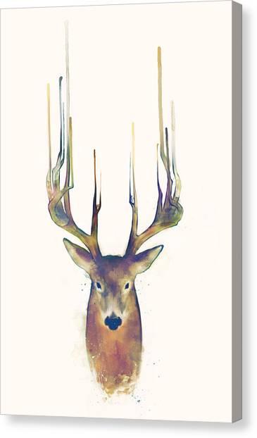 Stag Canvas Print - Steadfast by Amy Hamilton