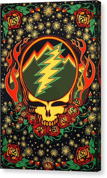 Grateful Dead Canvas Print - Steal Your Face Special Edition by The Steal