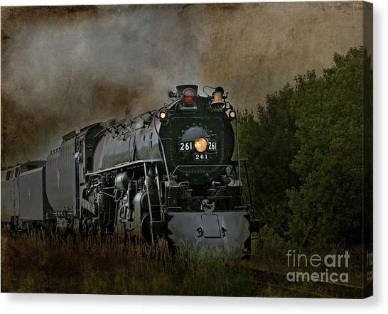 Steam Engine 261 Canvas Print