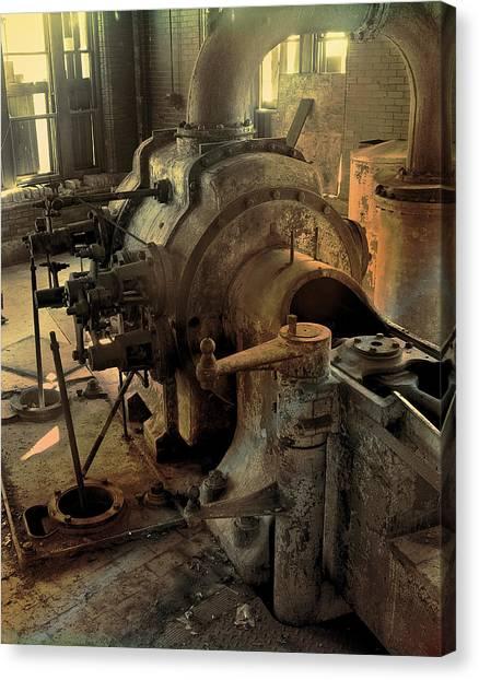 Steam Engine No 4 Canvas Print