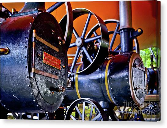 Steam Engines - Locomobiles Canvas Print