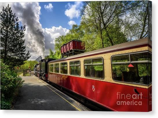 Steam Trains Canvas Print - Steam Loco 87 by Adrian Evans