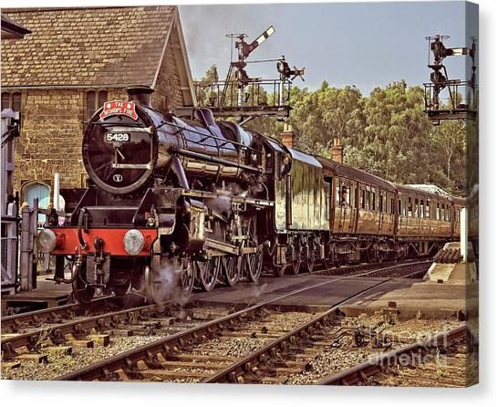 Steam Loco On Yorkshire Railway Canvas Print