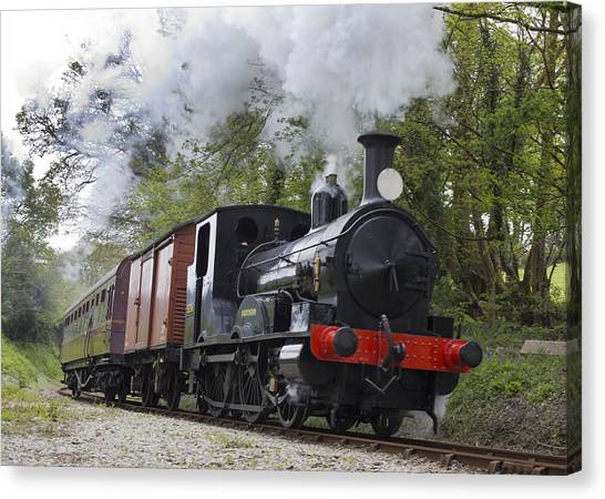 Steam Locomotive 3298 In Cornwall Canvas Print