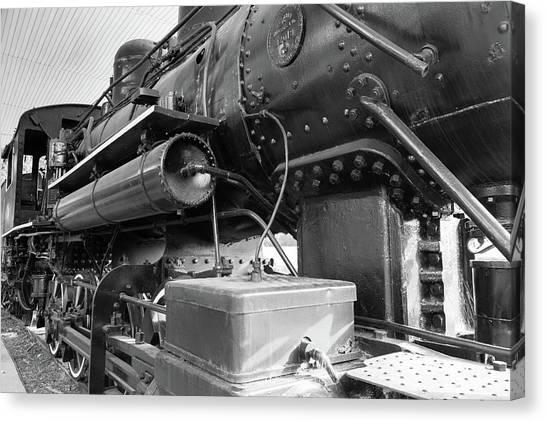 Steam Locomotive Side View Canvas Print