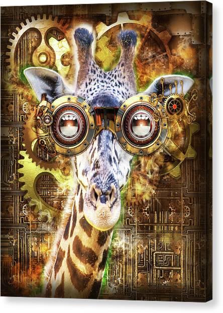 Steam Punk Giraffe Canvas Print