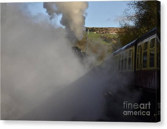 Steam Trains Canvas Print - Steam Steam Steam by Smart Aviation