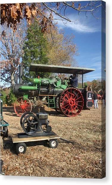 Steam Tractor Canvas Print by Kevin  Sherf