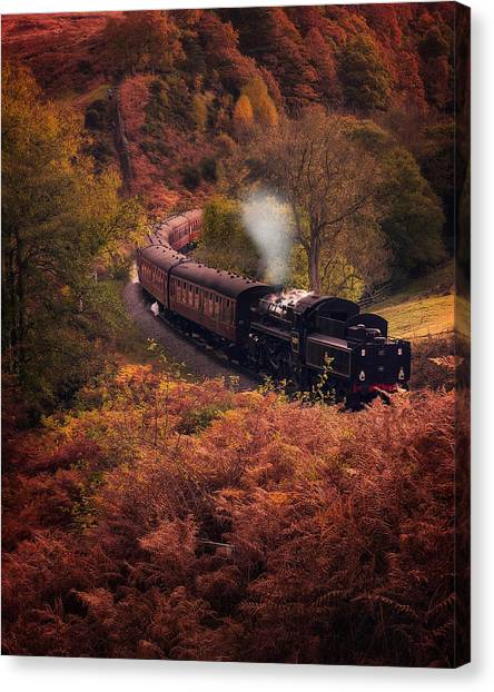 Steam Trains Canvas Print - Steam Train Goathland North Yorkshire by Ian Barber