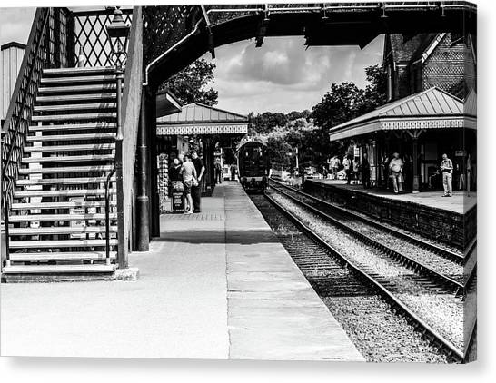 Steam Train In The Station Canvas Print