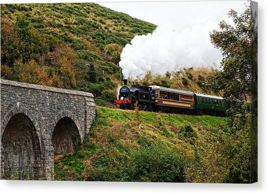 Steam Trains Canvas Print - Steam Train by Maye Loeser