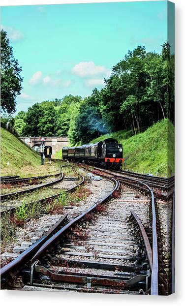 Steam Train Nr The Bridge Canvas Print