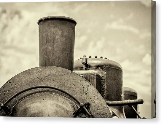 Canvas Print featuring the photograph Steam Train Series No 2 by Clare Bambers