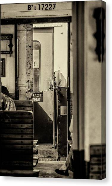 Canvas Print featuring the photograph Steam Train Series No 33 by Clare Bambers