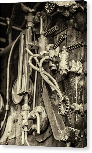 Canvas Print featuring the photograph Steam Train Series No 36 by Clare Bambers