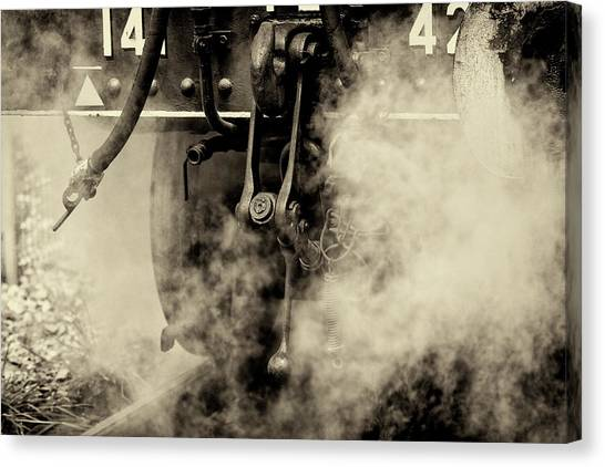 Canvas Print featuring the photograph Steam Train Series No 4 by Clare Bambers