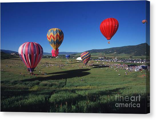 Steamboat Springs Balloon Festival Canvas Print