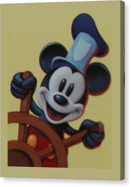 Steamboat Willy Canvas Print