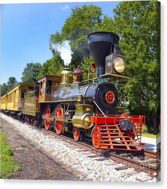 Steaming Into History Canvas Print