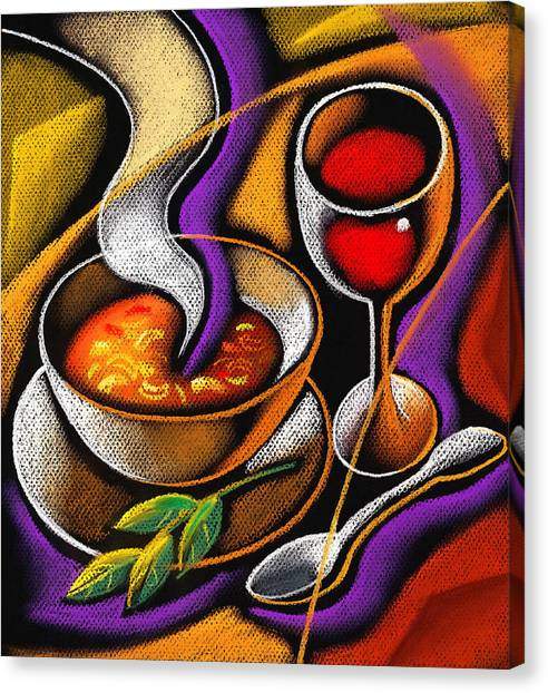 Salad Canvas Print - Steaming Supper by Leon Zernitsky