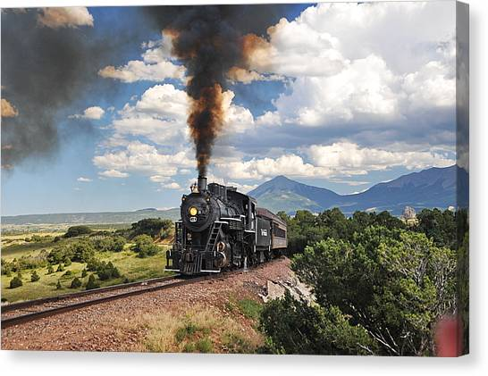 Steaming Towards La Veta Canvas Print