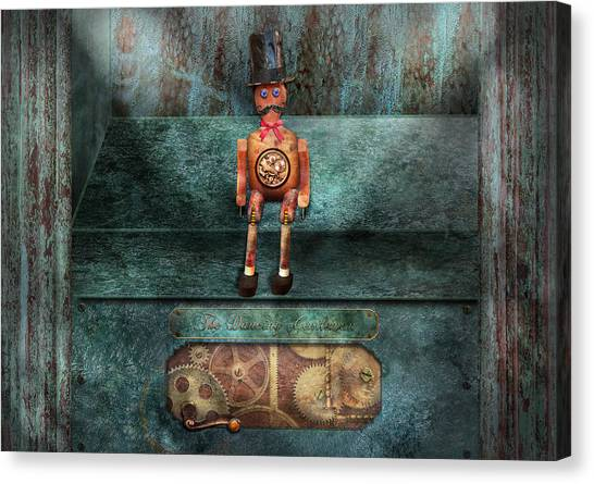 Automaton Canvas Print - Steampunk - My Favorite Toy by Mike Savad