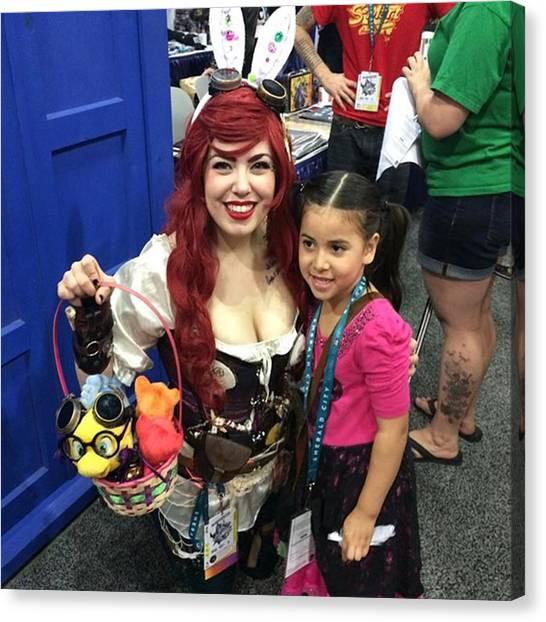 Steampunk Canvas Print - Steampunk Ariel #wondercon #wc2016 by Claudia Garcia Trejo