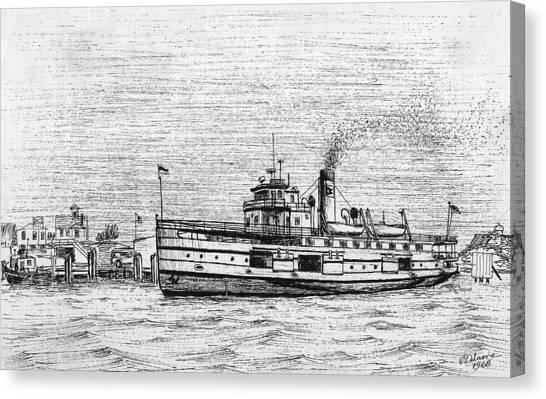 Steamship Nobska Canvas Print